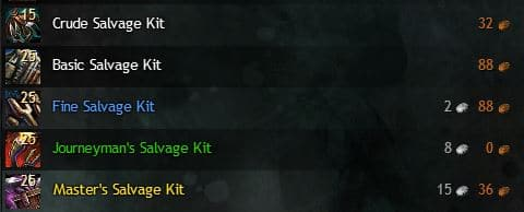 salvage kits