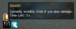 Stealth buff as seen in the tooltip