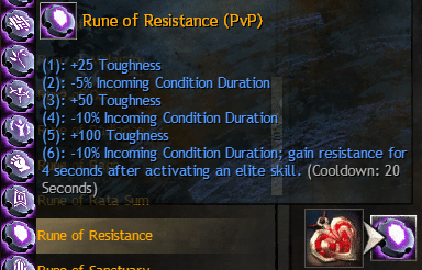 PvP rune selection