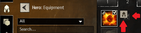 Toggle icon for PvP gear